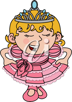 Royalty Free Clipart Image of a Young Princess
