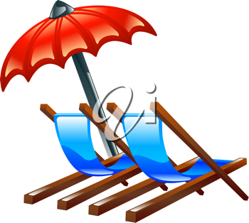 Royalty Free Clipart Image of Beach Chairs