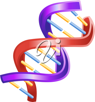 An illustration of a shiny DNA double helix icon