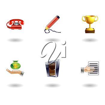 Royalty Free Clipart Image of Business and Office Icons