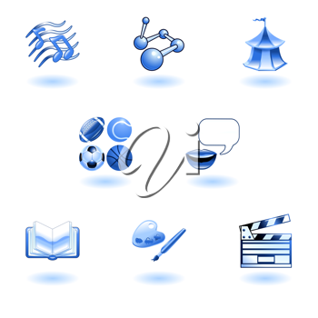 Royalty Free Clipart Image of Random Icons