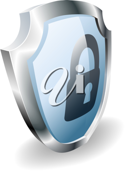Royalty Free Clipart Image of a Shield