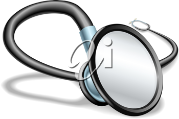 Royalty Free Clipart Image of a Stethoscope