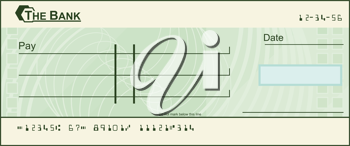 Royalty Free Clipart Image of a Void Cheque