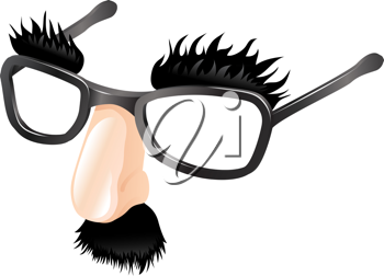 Royalty Free Clipart Image of a Groucho Mask