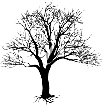 Royalty Free Clipart Image of a Tree Silhouette