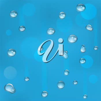 Water drops on glass illustration. Can be tiled seamlessly to form larger background.