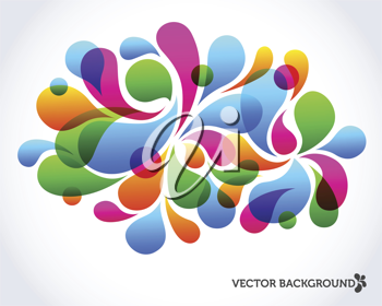 Royalty Free Clipart Image of a Drop Background