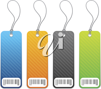 Royalty Free Clipart Image of Four Shopping Tags