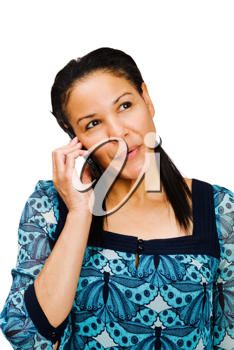 Royalty Free Photo of a Woman Talking on her Cell Phone