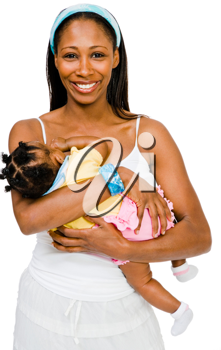 Royalty Free Photo of a Women Holding Her Daughter