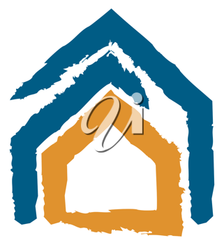 Royalty Free Clipart Image of an Abstract House