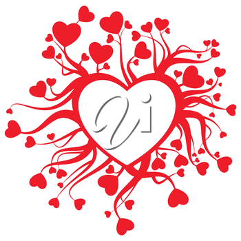 Royalty Free Clipart Image of a Heart Design