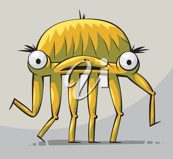 Royalty Free Clipart Image of a Six-Legged Creature