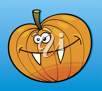 Royalty Free Clipart Image of a Funny Pumpkin