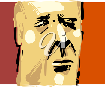 Artistic Drawing Illustration of Adult Man Face