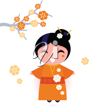 Royalty Free Clipart Image of an Asian Woman