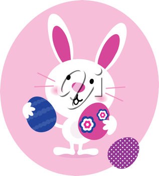 Royalty Free Clipart Image of an Easter Bunny