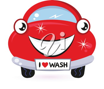 Royalty Free Clipart Image of a Clean Car