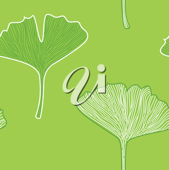 Seamless Ginkgo interior pattern or texture. Vector