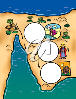 Royalty Free Clipart Image of a Thirsty Sick People in the Desert