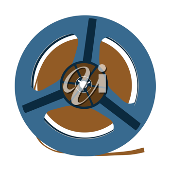 Royalty Free Clipart Image of a Tape Reel