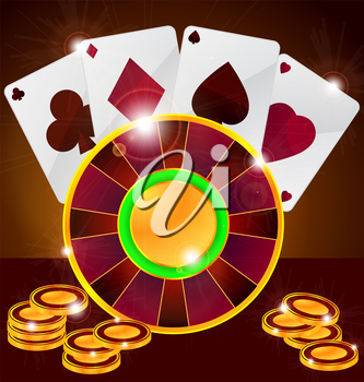Royalty Free Clipart Image of a Casino Elements