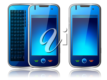 Royalty Free Clipart Image of Mobile Phones