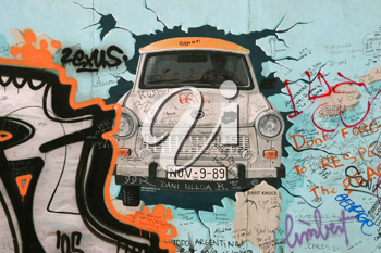 Royalty Free Photo of a Fragment of the Berlin Wall