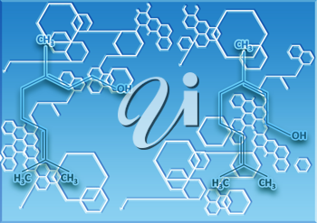 Royalty Free Clipart Image of a Linked Design With Hexagons