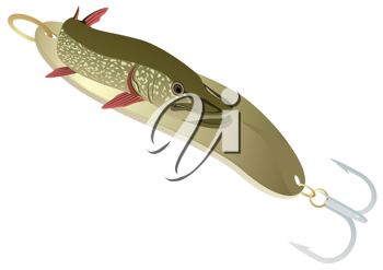 Royalty Free Clipart Image of a River Minnow
