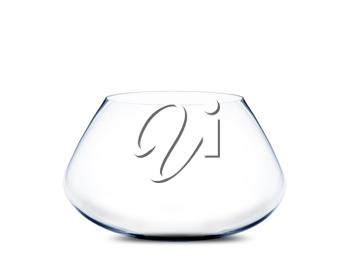 Royalty Free Photo of an Empty Fishbowl on a White Background