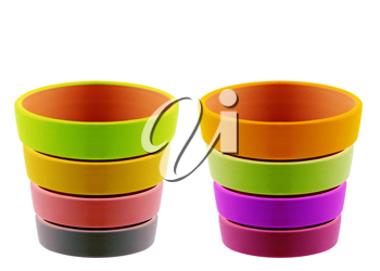 Royalty Free Photo of Multi-Coloured Clay Pots