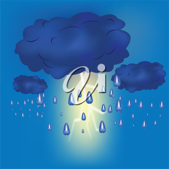 Royalty Free Clipart Image of a Lightning Storm
