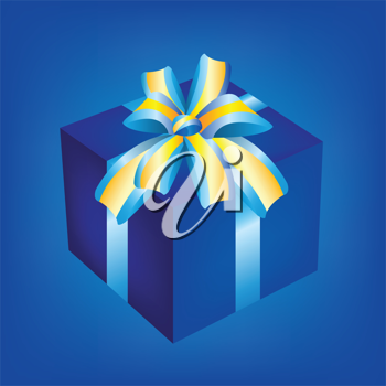 Royalty Free Clipart Image of a Wrapped Gift