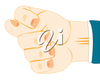 The Hand of the person showing indecent gesture.Vector illustration