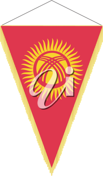 Royalty Free Clipart Image of a National Flag of Kyrgyzstan