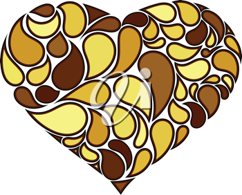Royalty Free Clipart Image of an Abstract Heart Shaped Pattern