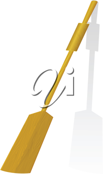 Royalty Free Clipart Image of a Wooden Oar