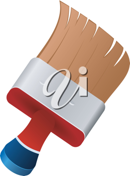 Royalty Free Clipart Image of a Paintbrush