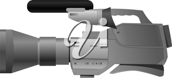 Royalty Free Clipart Image of a Old Fashioned Video Camera
