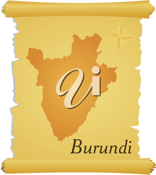 Royalty Free Clipart Image of a Parchment of Burundi
