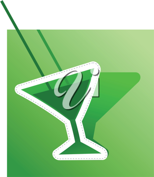 �bstract image of absinthe. Vector