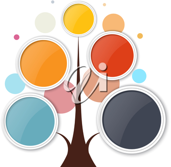 Abstract growth tree concept for communication, business, and web design. Vector illustration.