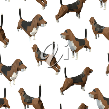 Seamless pattern with dogs. Vector illustration.