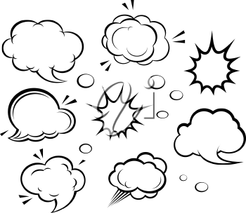 Royalty Free Clipart Image of a Set of Clouds