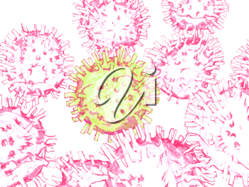 Royalty Free Clipart Image of Viruses