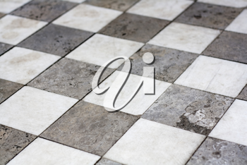 Royalty Free Photo of a Checkerboard Pattern Floor