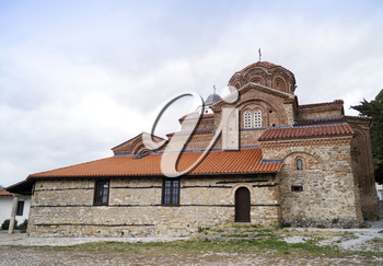 Holy Mary Peribleptos church, build in 13th century is one of the oldest churches in the town of Ohrid, Macedonia