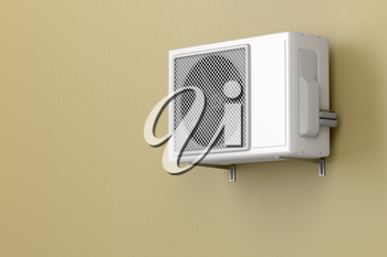 Air conditioner mounted on the wall